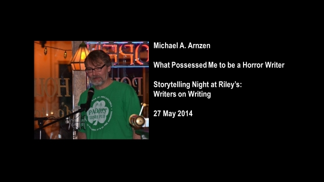 Hear Arnzen's Storytelling from Riley's Last May at L. Connolly's Blog