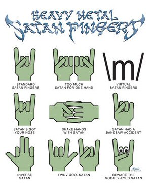 Heavy Metal Satan Fingers by John 'Bean' Hastings