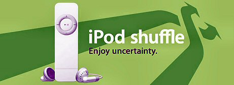 "iPod Shuffle ad asks consumers to ""Enjoy Uncertainty"""